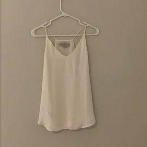 White racer back LOFT blouse